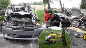 Tragická nehoda na Pardubicku: Řidič dodávky zemřel po srážce s kamionem.