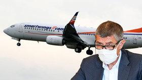Podle Babiše by byla škoda, kdyby firma Smartwings zkrachovala.