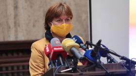 Tisková konference k uvolňování opatření po 25. květnu: Hlavní hygienička Jarmila Rážová (15. 5. 2020)