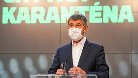 Tisková konference k projektu Chytrá karanténa: Premiér a šéf ANO Andrej Babiš (7. května 2020)