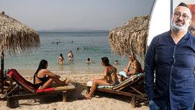 Šéf CK Blue Style Imed Jeddai v rozhovoru pro Blesk a pláž v Řecku (12. 5. 2020)