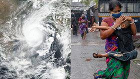 V Indii a Bangladéši pokračuje evakuace statisíců kvůli cyklonu.