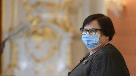 Ministryně spravedlnosti Marie Benešová (za ANO) během jmenování nového předsedy Nejvyššího soudu