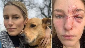 Modelku Alexandru (33) pokousal pes, kterého zachránila z útulku: Stačilo málo a přišla o oko!