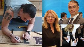 """Zuzana Čaputová se svým novým """"prvním frajerem"""" Jurajem Rizmanem"""