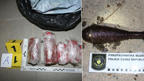 Trutnovská policie u čtyř mužů našla desítky kilo trhavin