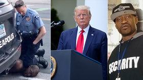 """Rodina oplakává smrt """"něžného obra"""". Trump nařídil vyšetřování smrti zatýkaného černocha."""