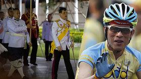 Thajský král Mahá Vatčirálongkón opustil karanténu a jel se projet na kole.