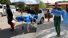 Výbuch somálského minibusu zabil minimálně deset lidí