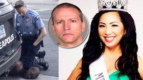 S policistou, který zabil Floyda (†46), se rozvádí manželka. V USA se protestuje už týden.