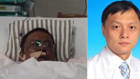 Urolog Chu Wej-feng (†42) podlehl koronaviru.