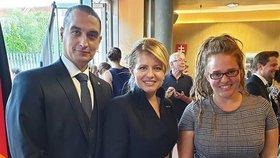 Zuzana Čaputová se svým bývalým poradcem a nyní přítelem Jurajem Rizmanem a jeho sestrou Jankou