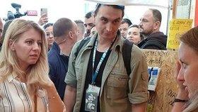 Juraj Rizman po boku Zuzany Čaputové na festivalu Pohoda v červenci 2019