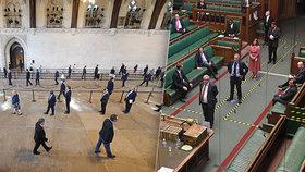 Britský parlament v době koronaviru. (3. 6. 2020)
