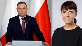 Polský prezident Duda odvolal velvyslankyni v Praze, která šikanovala své podřízené.