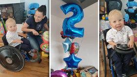 Maxík oslavil druhé narozeniny.