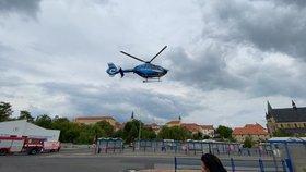 Vrtulník odletěl z místa nehody bohužel prázdný.