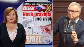 Alena Schillerová (za ANO) mluvila ve studiu Blesku o dopadu koronaviru na peníze. Miroslav Kalousek (TOP 09) reagoval na její slova o superhrubé mzdě