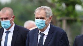 Pietní akt v Lidicích, kterého se účastnil i prezident Miloš Zeman (10.6.2020)