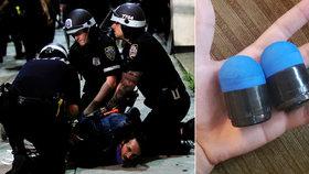 Gumové projektily využívané policií proti protestantům za George Floyda mohou mrzačit i zabíjet