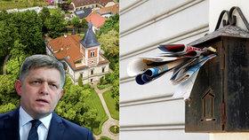 Majitel luxusního zámečku, kde se Fico zdržuje, se skrývá za schránkovými firmami