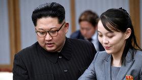 Kim Čong-un se sestrou Kim Jo-Čong.