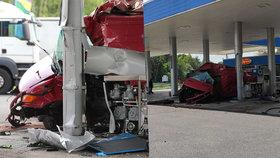 Nehoda na čerpací stanici