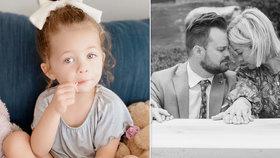 Smutné album influencerky: Sdílela srdceryvné fotografie z pohřbu tříleté dcery.