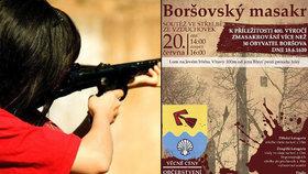 Obec Boršov nad Vltavou si historický masakr připomene střelbou ze vzduchovky.
