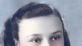 Irena Hešová v patnácti letech