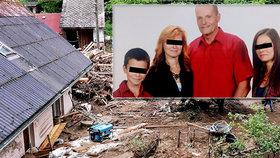 Petr s dětmi přišel při povodních o manželku.