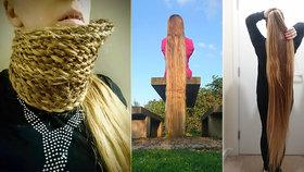 Žena (34) má vlasy jako Locika z pohádky Na vlásku: Lokny má dlouhé 1,5 metrů!