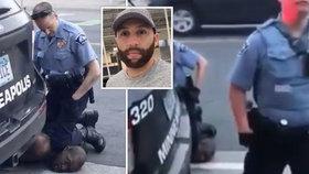 Policista obviněný z vraždy Floyda nakupoval v obchodě: Měl byste být ve vězení, křičela na něj žena