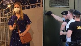 Veronika Kiruščanka po propuštění a zatýkání protestujících z minulého týdne (23. 6. 2020)