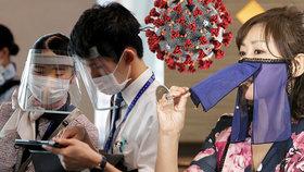 Japonci se v šití roušek inspirovali břišními tanečnicemi, nositelky mohou snadno pít i jíst