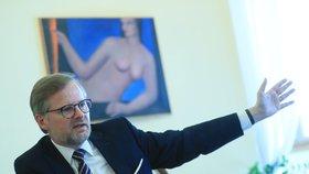 Petr Fiala při rozhovoru pro Blesk.