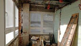 Průběh rekonstrukce nových porodních apartmánů