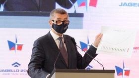 Vláda nebude navzdory krizi způsobené pandemií covidu-19 šetřit na bezpečnosti a armádě, řekl na bezpečnostní konferenci premiér a šéf ANO Andrej Babiš (25. 6. 2020)