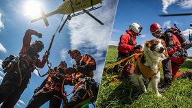 Cvičení záchranářů a hasičů z Královehradeckého kraje.