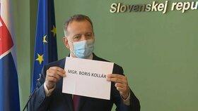 Boris Kollár během tiskové konference ke své diplomové práci (26. 6. 2020)