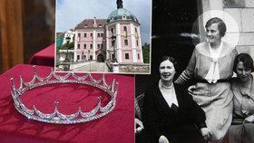 Vzácná korunka patřila komtese Eleonoře de Beaufort-Spontin, vidět ji můžete na Bečově.