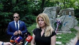 Zuzana Čaputová uctila památku obětí komunistického režimu. V centru Bratislavy zavzpomínala především na Miladu Horákovou (27. 6. 2020).