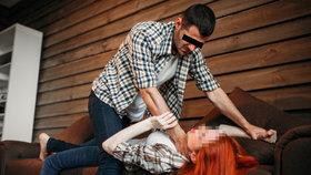 Rdoušení ženy (ilustrační foto)
