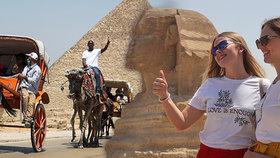 Egypt turistům otevřel nejen letiště a hotely, ale zpřístupnil i pyramidy v Gíze či muzem v Káhiře (1.7.2020)