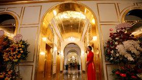 Nová dominanta vietnamské Hanoje: Hotel ze zlata.