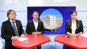 Epicentrum s ředitelem odboru politiky bydlení na ministerstvu pro místní rozvoj, Jiřím Klímou, a obchodním manažerem developera Vivus, Miroslavem Ocelákem