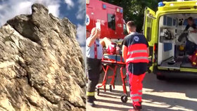 Šestnáctiletý mladík spadl ze skály na Slovensku.