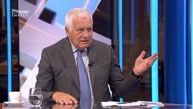 Bývalý prezident Václav Klaus v Partii na Primě (5. 7. 2020)