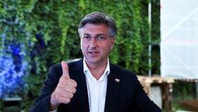 Andrej Plenković a jeho Chorvatské demokratické společenství (HDZ) zvítězili v parlamentních volbách v zemi (5. 7. 2020)