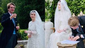 Svatba novináře Neda Donovana a jordánské princezny Rajah bint al-Husajn.